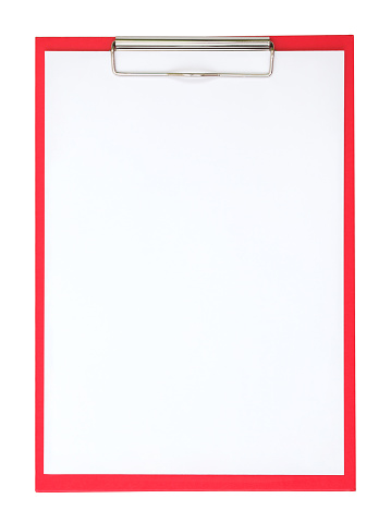 Document「A red clipboard with a plain white piece of paper on it」:スマホ壁紙(16)