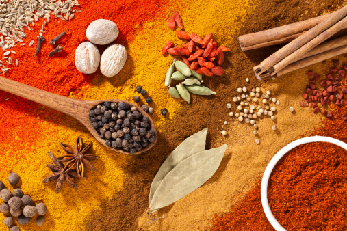 Spice「Colorful exotic spices composition shot directly above」:スマホ壁紙(14)