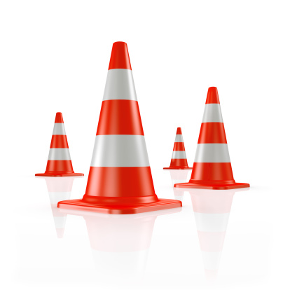 Road Construction「Four orange traffic cones」:スマホ壁紙(12)
