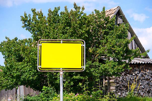sign - gelbes leeres Ortschild:スマホ壁紙(壁紙.com)