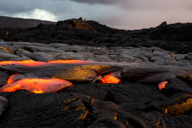 Sunrise Lava Flow at Hawaii Volcano National Park, Hawaii, America, USA:スマホ壁紙(壁紙.com)