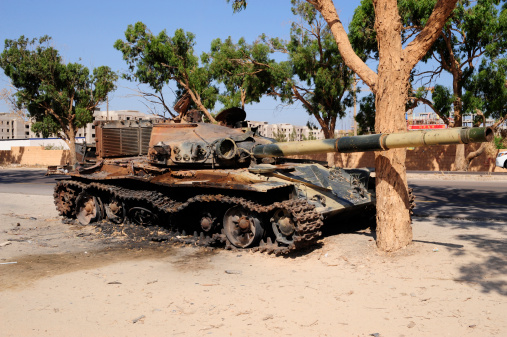 Rebellion「A T-72 tank destroyed by NATO forces just outside Benghazi, Libya.  」:スマホ壁紙(5)