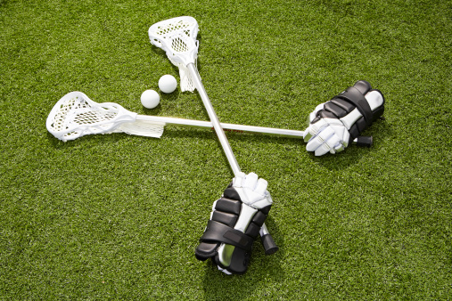 Protective Glove「Lacrosse sticks, gloves and balls on artificial turf」:スマホ壁紙(4)