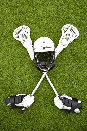 Protective Glove「Lacrosse sticks, gloves, balls and sports helmet on artificial turf」:スマホ壁紙(2)