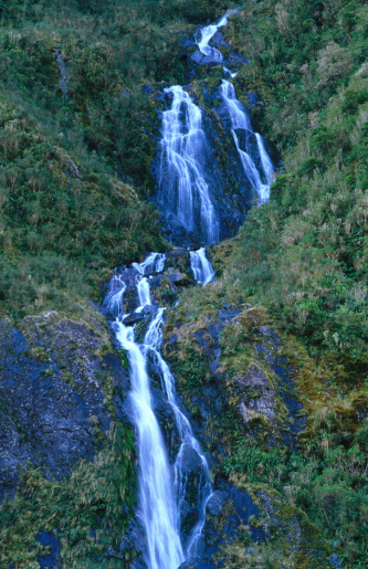 Westland - South Island New Zealand「Josef Waterfalls.」:スマホ壁紙(9)