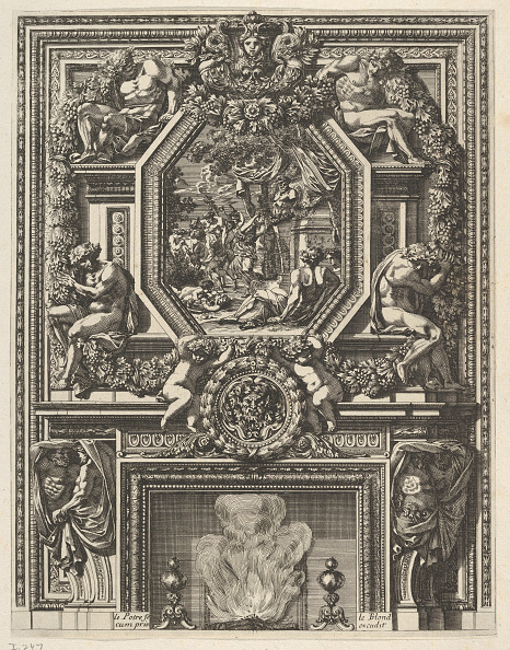 Mantelpiece「Chimney With A Bacchanal Over The Mantle From Grandes Cheminée」:写真・画像(5)[壁紙.com]