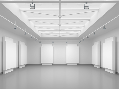 Retail Display「3d empty gallery space」:スマホ壁紙(11)