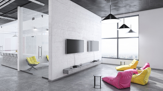 Pendant Light「Contemporary office interior entertainment gaming room」:スマホ壁紙(9)