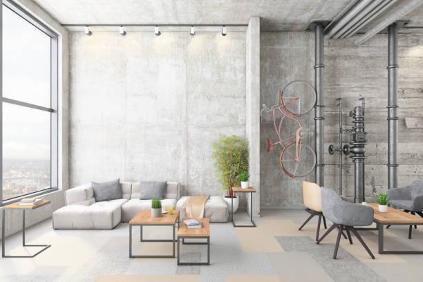 Contemporary office interior lobby:スマホ壁紙(壁紙.com)