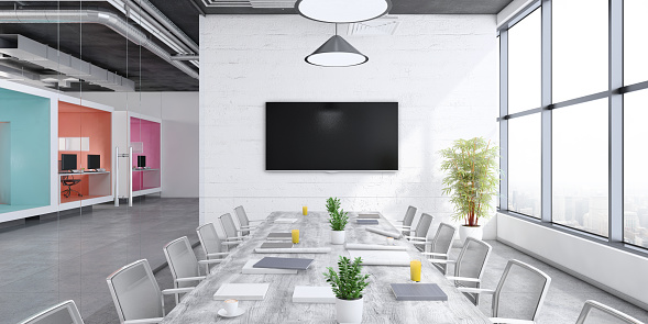 Corporate Business「Contemporary open plan office interior」:スマホ壁紙(6)