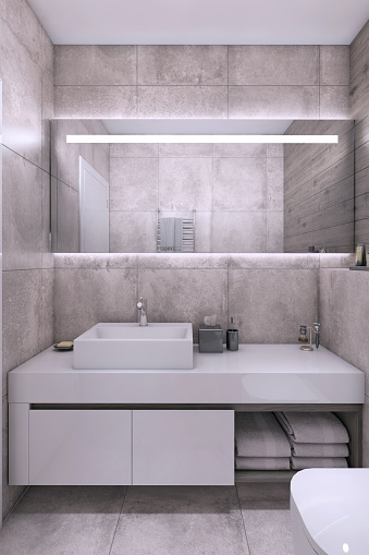 Pastel「Contemporary small bathroom interior」:スマホ壁紙(13)