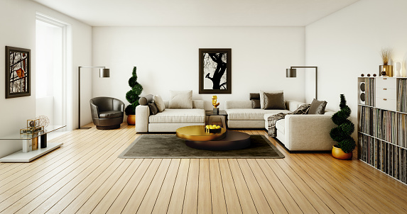 Color Manipulation「Contemporary Living Room」:スマホ壁紙(6)