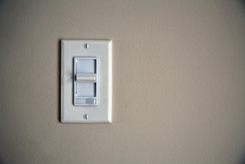 Light Switch「Contemporary dimmer switch on wall」:スマホ壁紙(12)