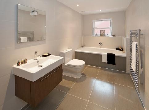 Tile「contemporary bathroom」:スマホ壁紙(16)