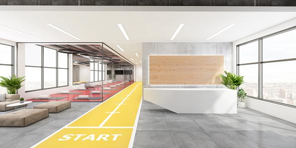 Wide Angle「Contemporary yoga studio interior」:スマホ壁紙(5)