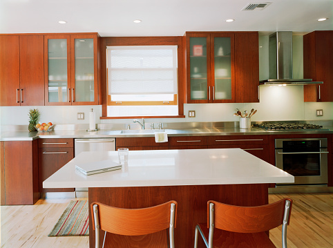 Kitchen Counter「Contemporary Kitchen with Wooden Cabinets」:スマホ壁紙(15)