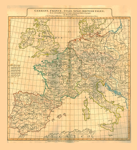 18th Century Style「Map Of Europe」:写真・画像(2)[壁紙.com]