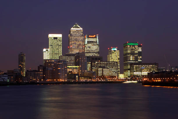 Canary Wharf, Docklands area. London, United Kingdom.:ニュース(壁紙.com)