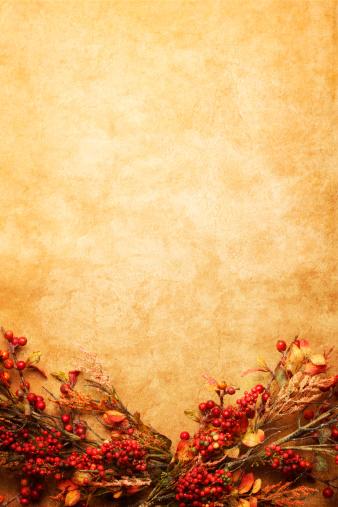秋「秋の花飾り」:スマホ壁紙(11)