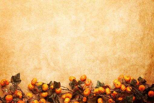ハロウィン「秋の花飾り」:スマホ壁紙(8)