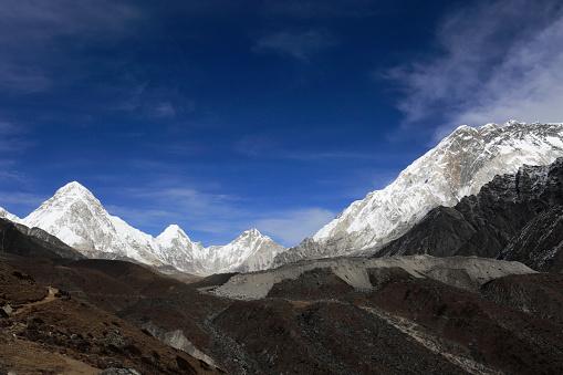 Khumbu「Lingtren, Khumbutse, Nuptse mountains,」:スマホ壁紙(10)