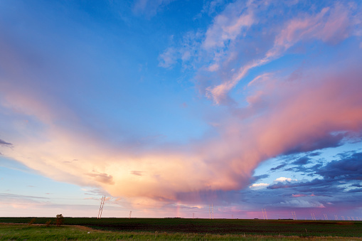 Mammatus Cloud「Saskatchewan Canada land Of The Living Skies Sunset」:スマホ壁紙(11)