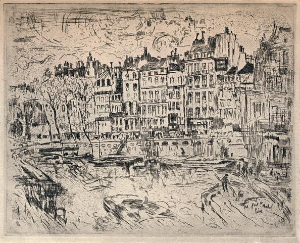Etching「'Near the Pont St Michel', 1915. Artist: John Marin.」:写真・画像(2)[壁紙.com]