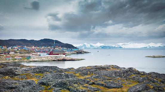 Danish Culture「Ilulissat Icefjord Cityscape Panorama Greenland Denmark」:スマホ壁紙(16)