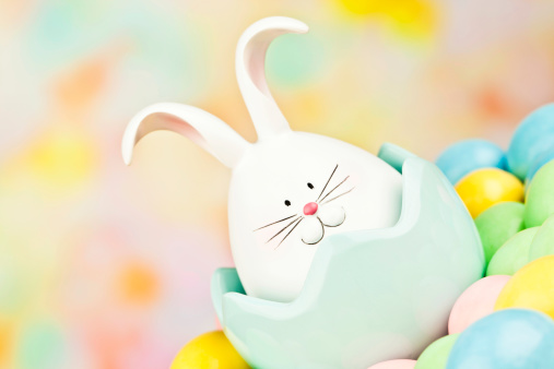 Baby Rabbit「Cute Easter Critter with Eggs」:スマホ壁紙(11)