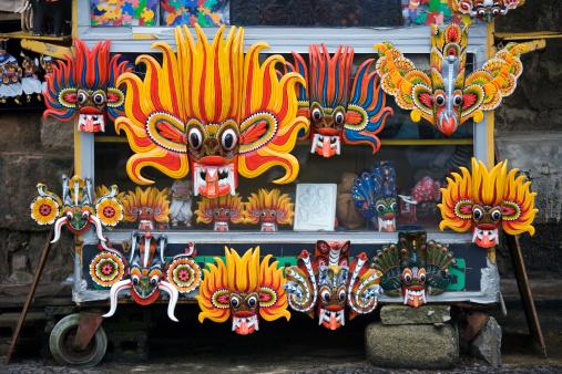 Sri Lanka「Sri Lanka, Kandy, carnival masks on street stall」:スマホ壁紙(17)