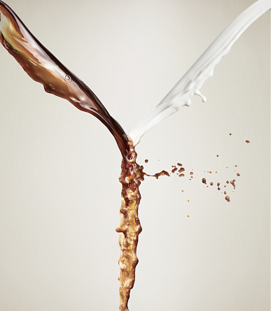 Coffee - Drink「coffee milk and coffee mixing together. Frozen splashes」:スマホ壁紙(0)