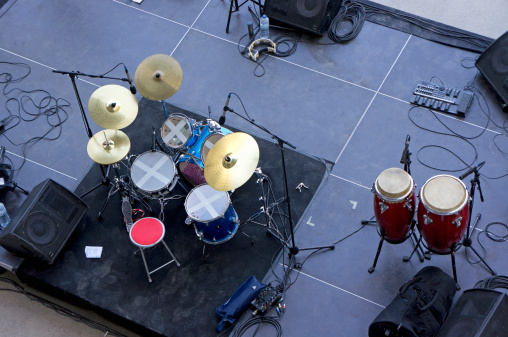 Preparation「Drums, percussion and monitors on stage」:スマホ壁紙(11)