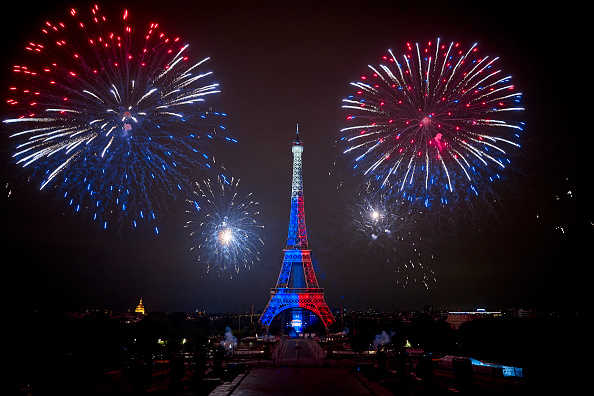 Eiffel Tower「Bastille Day Fireworks At The Eiffel Tower In Paris」:写真・画像(4)[壁紙.com]