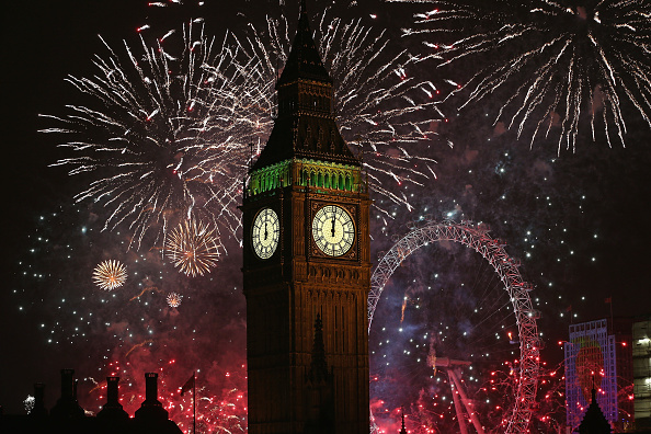 Urban Skyline「The New Year Is Celebrated In London With A Firework Display」:写真・画像(17)[壁紙.com]