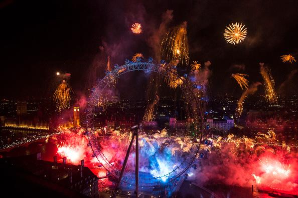 花火大会「The New Year Is Celebrated In London」:写真・画像(5)[壁紙.com]