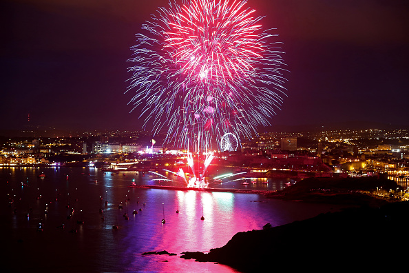 花火大会「Firework Teams Compete Againist Each Other At The British Firework Championships」:写真・画像(4)[壁紙.com]