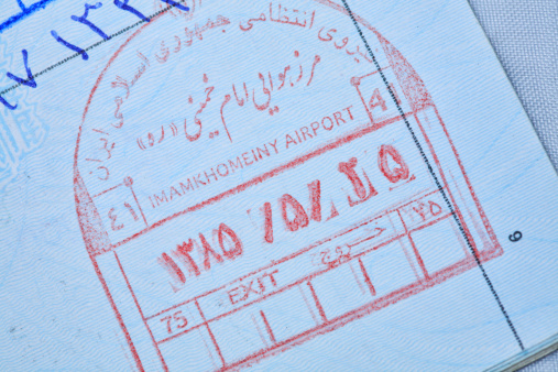 Iranian Culture「Iranian immigration stamp in a passport」:スマホ壁紙(13)