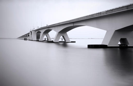 Netherlands「Zeeland Bridge in long exposure」:スマホ壁紙(6)
