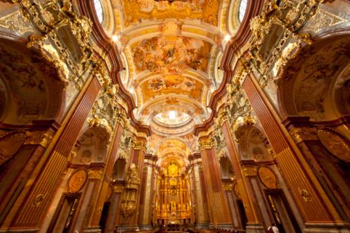 Abbey - Monastery「Church & Altar at Abbey of Melk, Austria.」:スマホ壁紙(10)
