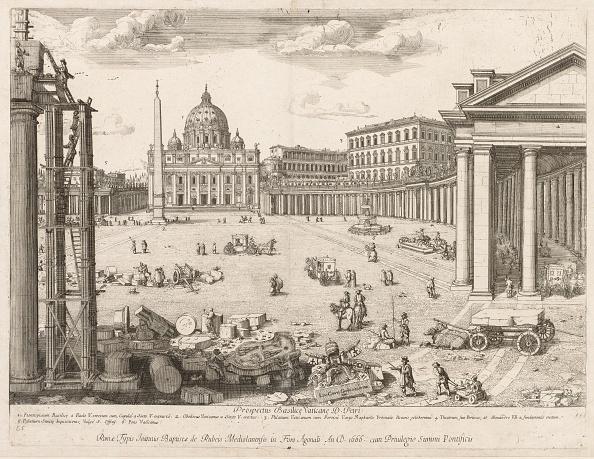 """バシリカ「St. Peters Basilica From """"Prospectus Locurum Urbis Romae Insign[Ium]"""",」:写真・画像(16)[壁紙.com]"""
