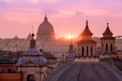 Cathedral「St Peter's Basilica, from the Pincio」:スマホ壁紙(5)