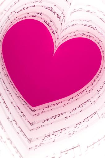 Chord「pink music heart」:スマホ壁紙(13)