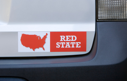 Election「Red state bumper sticker on car」:スマホ壁紙(13)