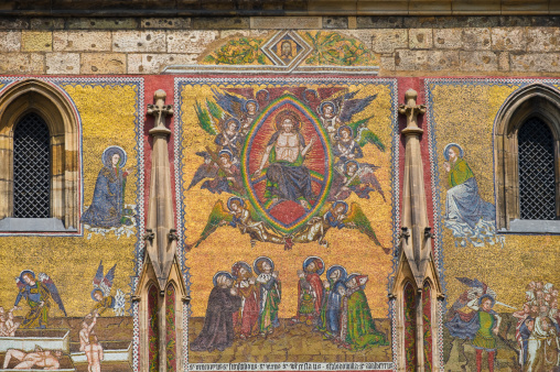St Vitus's Cathedral「Religious mosaic on cathedral wall」:スマホ壁紙(3)