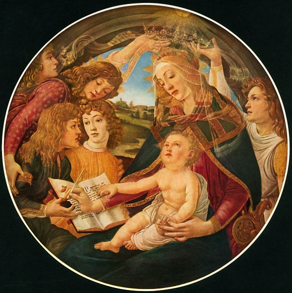 Virgin Mary「Madonna Of The Magnificat」:写真・画像(5)[壁紙.com]