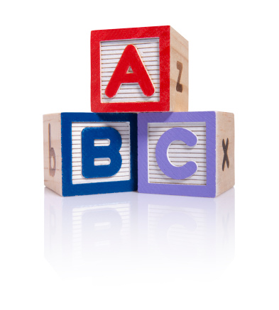 Letter B「ABC wooden blocks cube (clipping paths)」:スマホ壁紙(2)