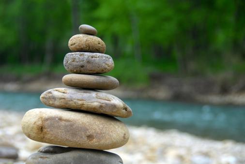 Stream - Flowing Water「Cairn, aka Stack of Rocks」:スマホ壁紙(15)