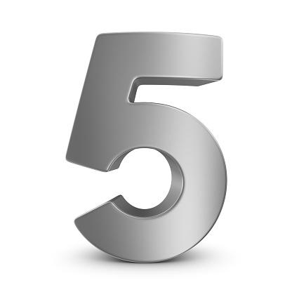 Number 5「metal number 5」:スマホ壁紙(14)