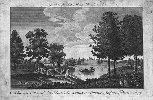 造園「A View Of The Island In The Garden Of Hopkins」:写真・画像(5)[壁紙.com]
