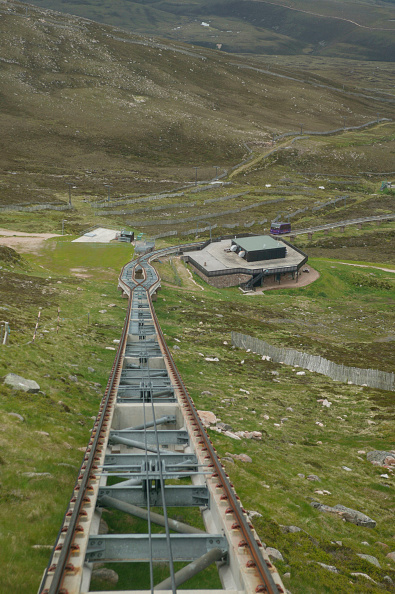 Extreme Terrain「View from the Cairngorm Mountain Railway showing the drive cables and passing place. June 2005」:写真・画像(12)[壁紙.com]